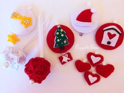 Set di decorazioni di feltro per l'albero di Natale: idee regalo in pannolenci per un Natale hand-Made!