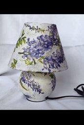 Lampada Abat jour Glicine, in ceramica