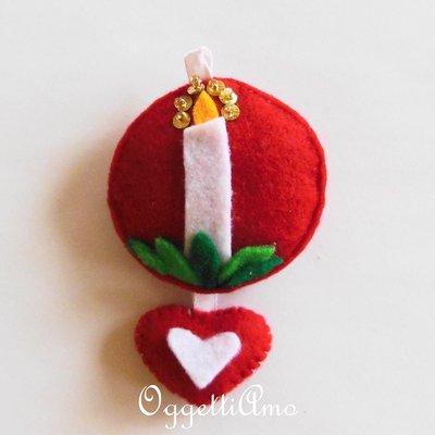 Addobbo per l'albero di Natale CANDELA: decorazione, idea regalo o portachiavi per un caldo Natale!