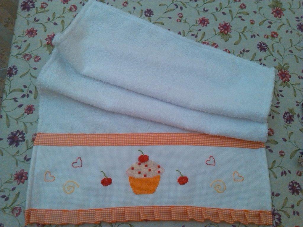 Strofinaccio cupcake arancio