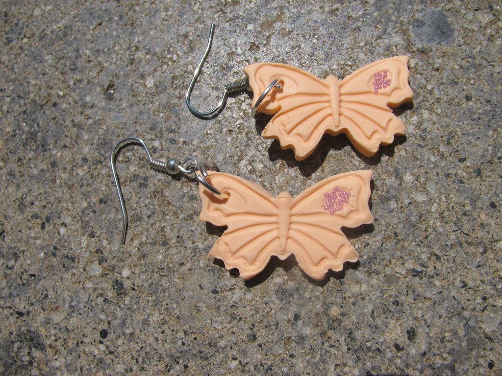 Orecchini in Fimo Farfalla colorata