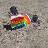 """Orecchini """"Torta arcobaleno"""""""