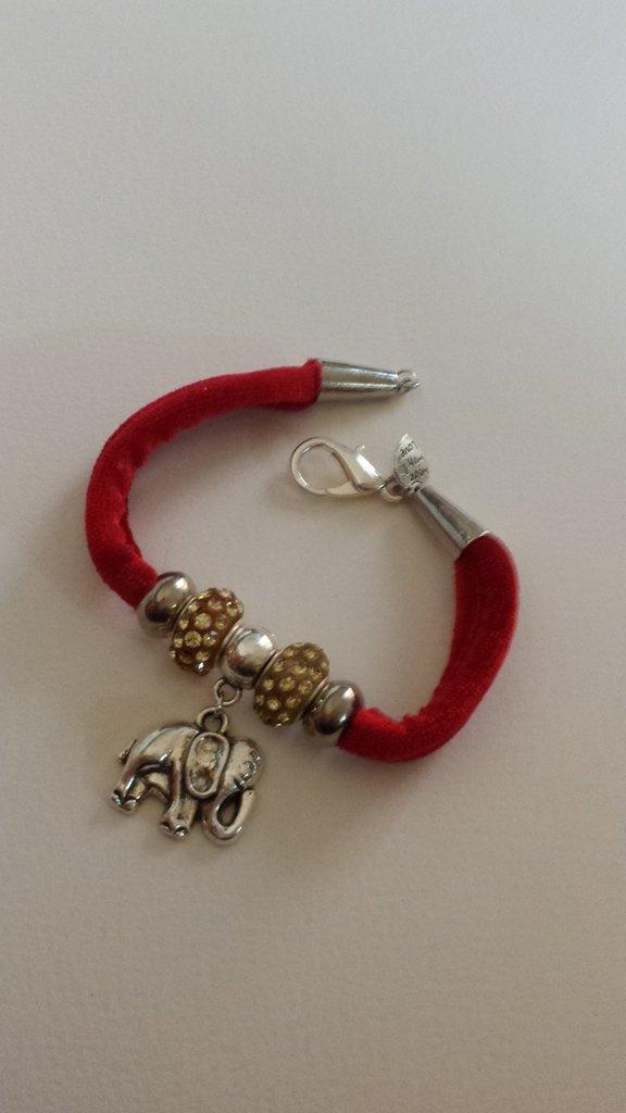 Bracciale con elefante porta fortuna