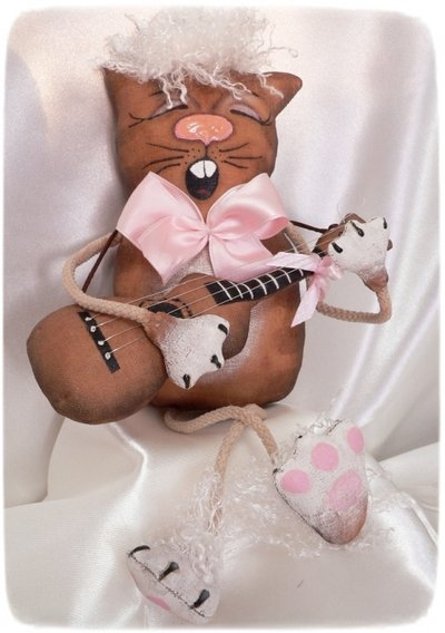 Gatto chitarrista, fatto a mano *VENDUTO*