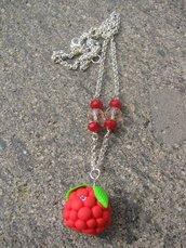 Collana Lampone rosso