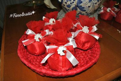 Gessetti profumati quadrifoglio Laurea con sacchettino e confetti (SOLO SU RICHIESTA)