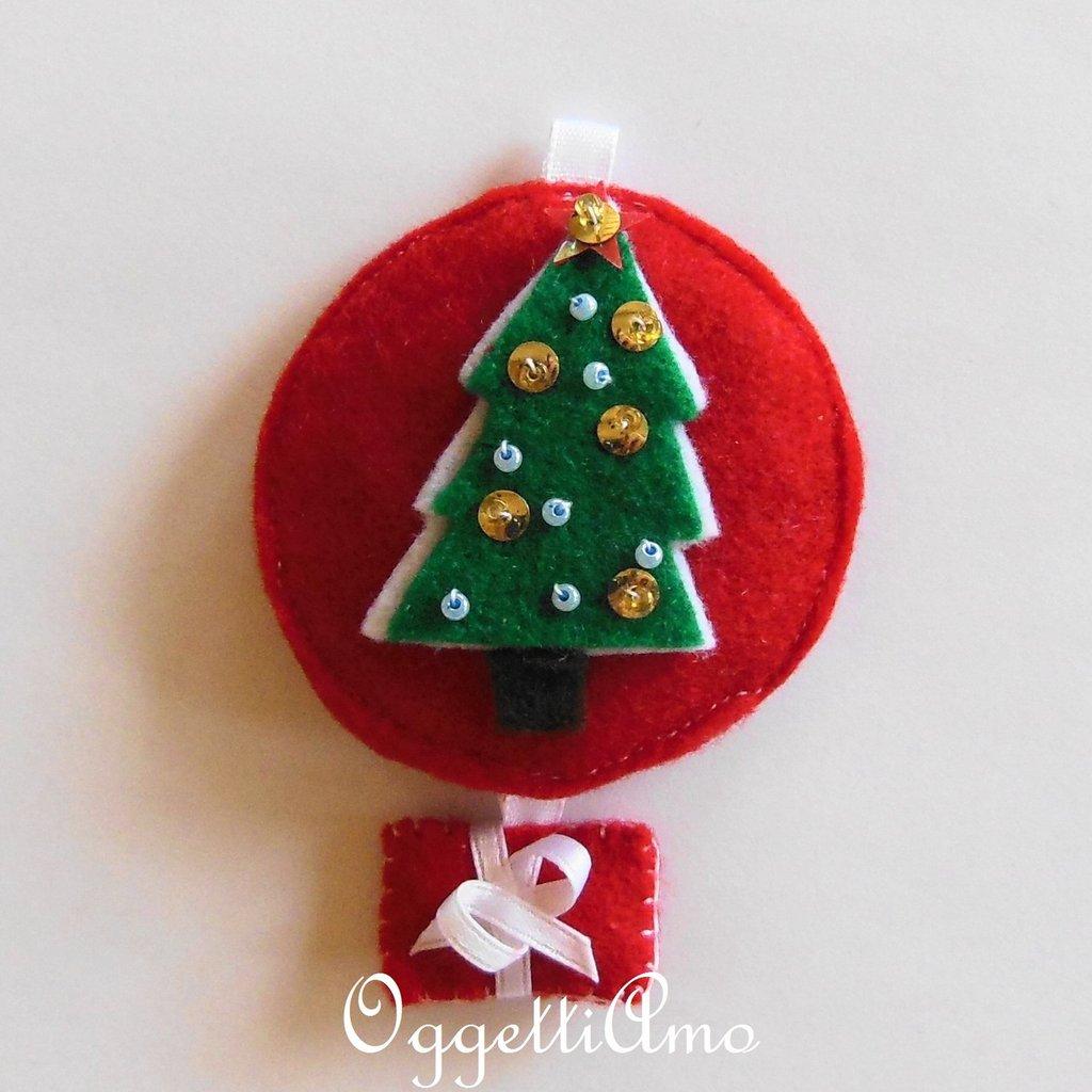 Addobbo per albero di Natale o idea regalo in feltro? Decorazione Natalizia Albero di Natale