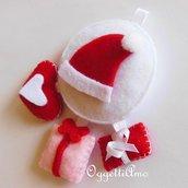 Decorazione BABBO NATALE: un addobbo in feltro per il vostro albero di Natale bianco e rosso!