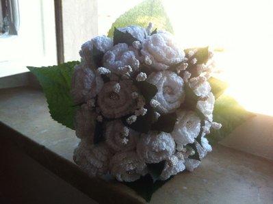 Bouquet da sposa all'uncinetto