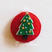 Addobbo per l'albero di Natale ' Albero di Natale decorato': una decorazione in morbido feltro imbottito!