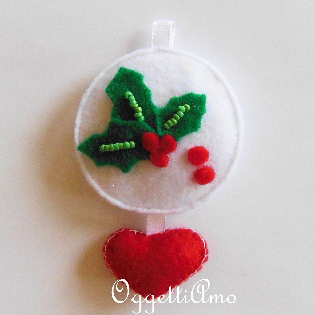 Addobbo PUNGITOPO, la decorazione per l'albero di Natale in feltro per un caldo Natale!