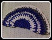 pochette cotone bianca e azzurra