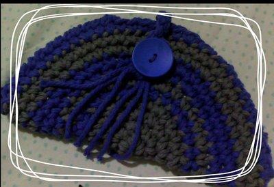 pochette cotone grigio e blu