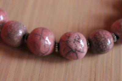 girocollo raku rosa antico