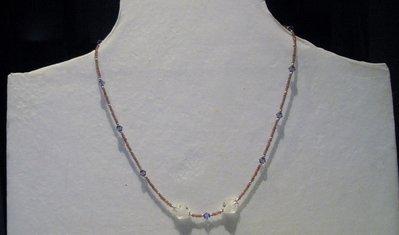 Completo paure due pezzi con perle in vetro lavorato e cristalli