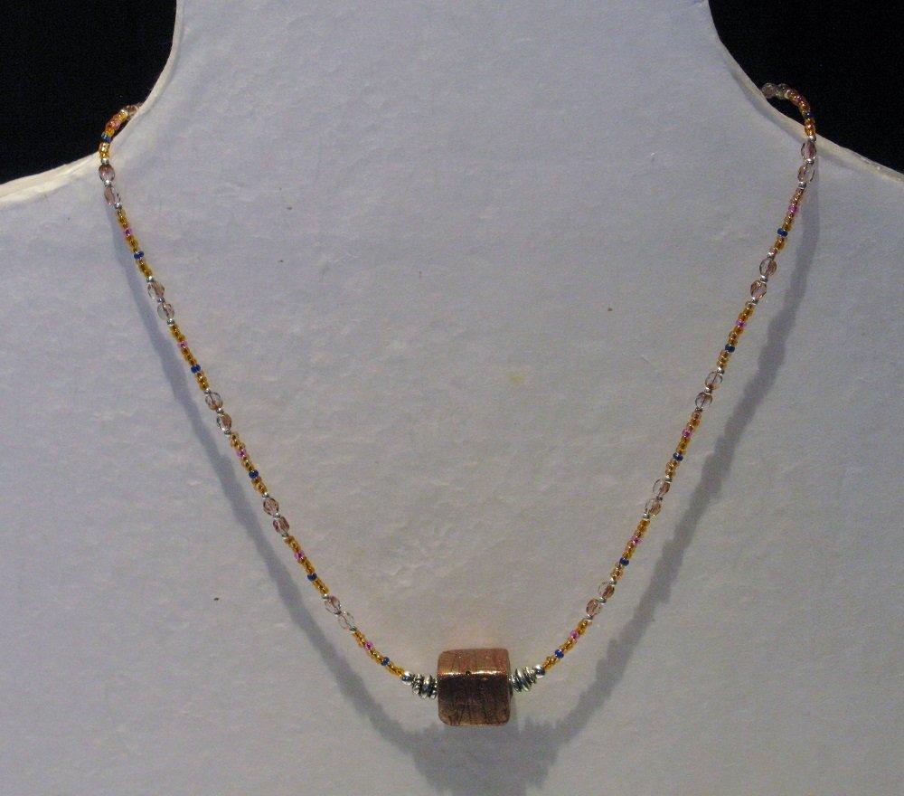 Collana a filo singolo con perla indiana