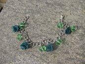 Bracciali con rose e perle