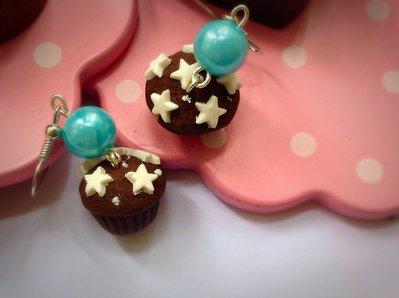 Orecchini cupcake pan di stelle