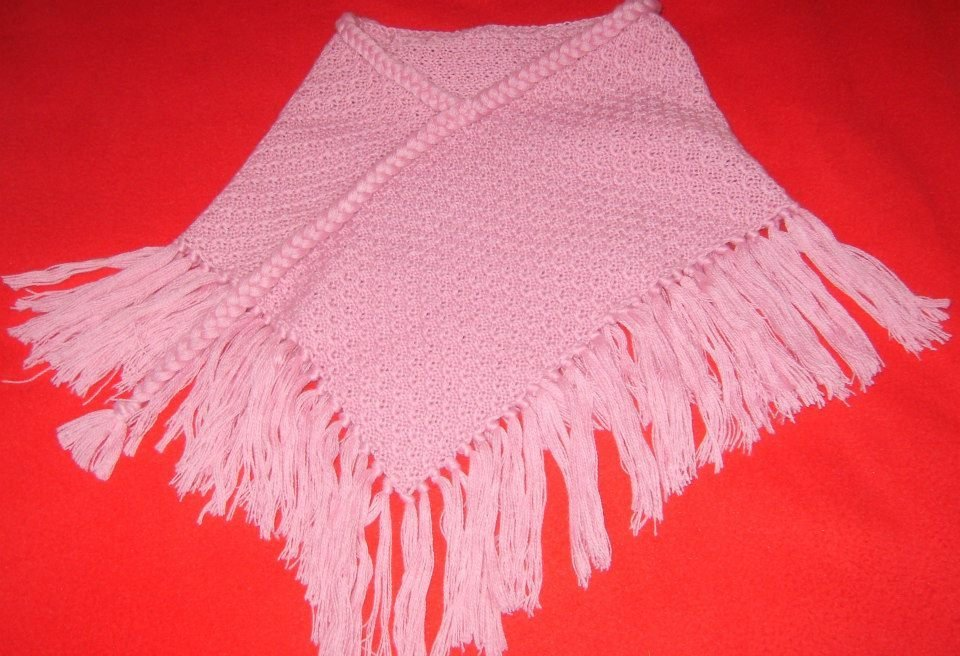 poncio sciarpa bimba maglia lana