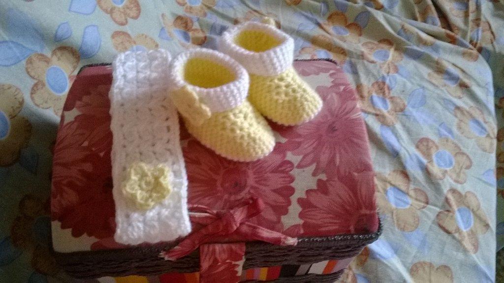 scarpine con fascetta in lana