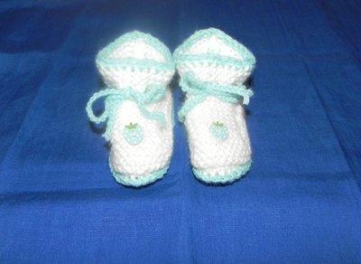 scarpine neonato fatte a mano in lana