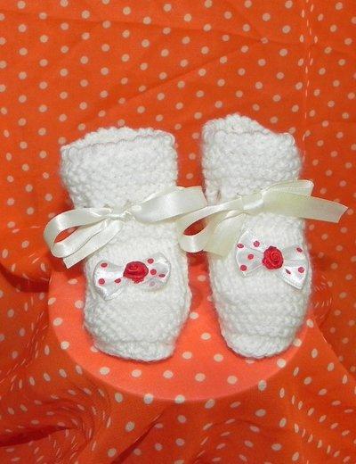 scarpette neonato fatte a mano