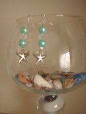 Orecchini con perle e stelle marine, NUOVI!
