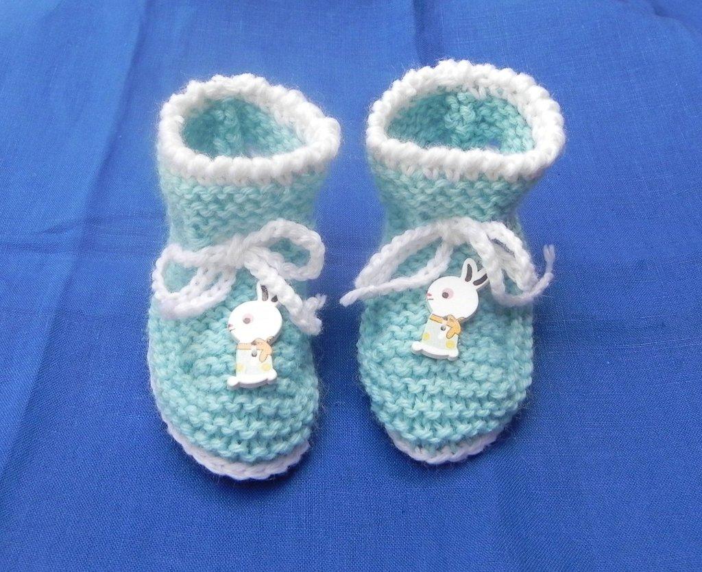 Scarpette scarpine neonato uncinetto regalo NATALE - Bambini - Abbi ... 927fcec1ca00