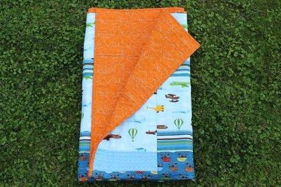 """Trapunta patchwork per bambini  misura lettino cm108x134 """" Pirati da sbarco"""""""