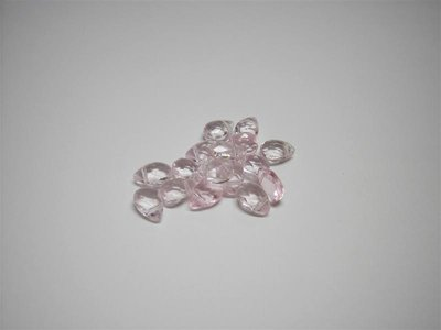 Perle di vetro a goccia piccola rosa x10pz