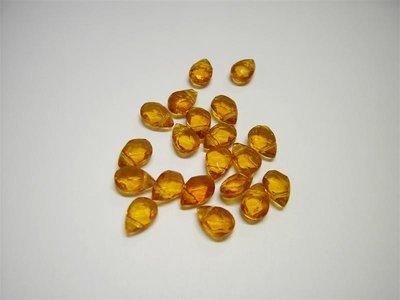 Perle di vetro a goccia piccola topazio x10pz