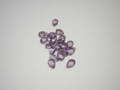 Perle di vetro a goccia piccola viola x10pz