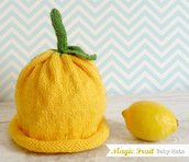 Cappellino in Lana giallo, Baby Magic Hats, Cappellino Limone per bambino