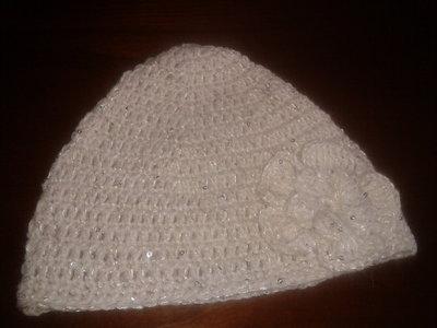 Cappello di lana color panna