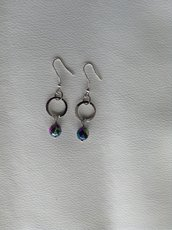 orecchini pendente blu