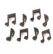 CIONDOLI PLEXIGLASS  - OTTO NOTE MUSICALI - ideali per creare orecchini, braccialetti, ciondoli, collane, scrapbooking