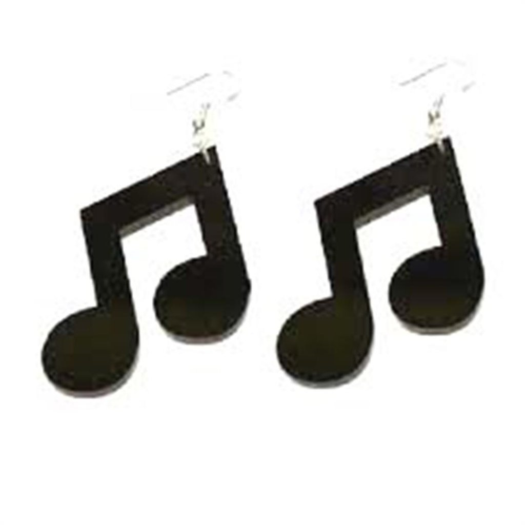 Paio orecchini plexiglass - note musicale