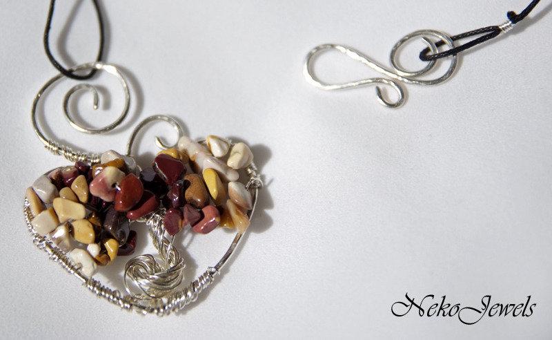 Albero della vita kokoro cuore con mokaite Chakra Manipura gemelli madre terra