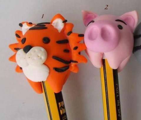 Copri-matita o penna con animaletti