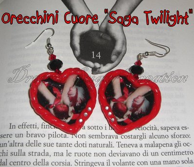 Orecchini Cuore Saga Twilight!