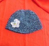 Cappellino BAMBINA fatto a mano UNCINETTO HELLO KITTY circonf erenza 44 cm