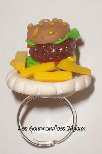 anello fast food fimo cernit