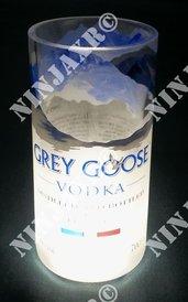 3 Bicchieri Bottiglia Vodka Grey Goose Tumbler Led