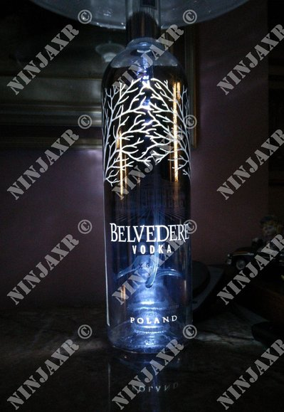 Lampada Bottiglia Magnum 1,75 lt Belvedere Silver Saber Limited Edition