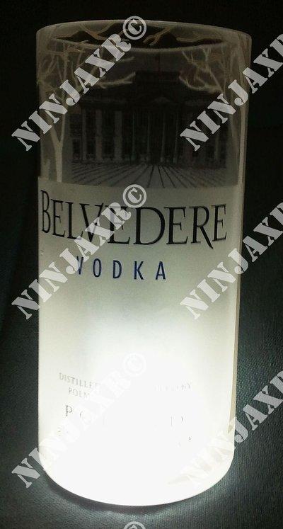 3 Bicchieri Bottiglia Vodka Belvedere Tumbler Led