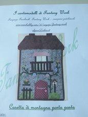 cartamodello pannello porta posta Casetta di montagna