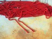 Base per collana a pallini rossa