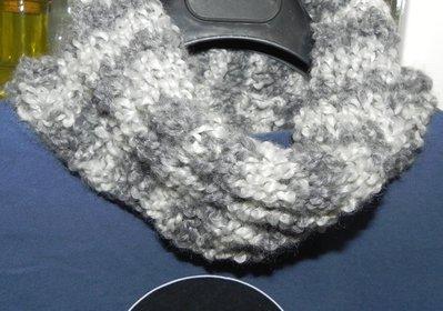 Scaldacollo per uomo handmade toni del grigio