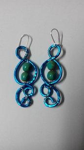 orecchini filo d'alluminio