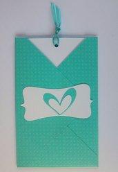 Partecipazione per matrimonio color Tiffany a cuore